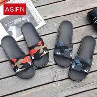ASIFN Men's Slippers Flip Flops Camo Casual Slides Shoes Non-Slip Beach Summer Sandals Male 4 Colors Zapatos Hombre 210408