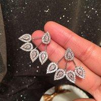 Dangle & Chandelier Trendy Simple Sweet Shiny Cubic Zirconia Drop Water Geometirc Earrings For Women Luxury Temperament Fashion Jewelry Gift