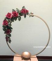 Party Decoration 15.7inch) 40cm Diameter) Inch Wedding Round Gold Metal Centerpiece Flower Stands Senyu2183