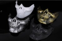 Hot Skeleton Mask Half Face Actual Combat Warrior Face Masks Halloween Party scary mask Worldwide BWD10426