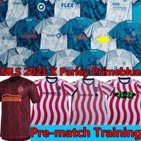 MLS 2021 x Parley Primeblue Soccer Technys Тренинг-футболка Предварительная матча Учебная рубашка Интер Miami Lafc Toronto Orlando Philadelphia Union City Atlanta D.C. United Football Jersey