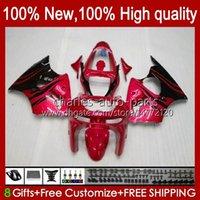 Fairings Kit For KAWASAKI NINJA ZX-6R ZX-636 ZX600 ZX600CC 98-99 Bodywork 16No.18 red flames ZX-600 600CC ZX636 ZX6R 98 99 ZX 636 600 CC 6 R 6R 1998 1999 Motorcycle Bodys
