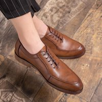 Dress Shoes High Quality Casual Men's Leather Lace Up Business Oxford Breathable Wedding Zapatos De Homb