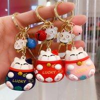 Keyring Keychain New cartoon Wufu Zhaocai cat Key Chain Pendant