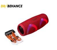 Şarj 5 RGB Işık Bluetooth Hoparlör Ücreti5 Taşınabilir Mini Kablosuz Açık Su Geçirmez Subwoofer Hoparlörler Destek TF USB Kartı