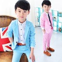 소년들에게는 결혼식을위한 정식 학교 정장 Prince Kids Party Tuxedos 소년 신사 생일 드레스 블레이저 바지 2pcs 의상 783 S2