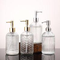 Storage Bottles & Jars 500ml Glass Vintage Manual Pressure Liquid Soap Dispenser Bathroom Sink Accessory