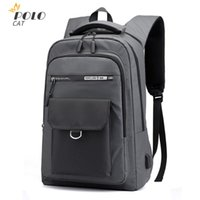 Backpack Men's Oxford Cloth Waterproof USB Charging Travel Wild Tide Brand Tooling Business Computer Bag Casual