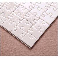 Produits de papier Fournitures School Office Business Drop Drop Drop Drop Drop 2021 A5 Taille DIY SUBLIMATION Puzzles blancs Puzzle blanc Jigsaw 80PC