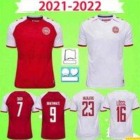 2021 2022 Dinamarca Futebol Jersey Schmeichel Kjaer Christensen Skov Delaney Braithwaite Dbu Casa Away Red White Eriksen Dalsgaard Lossl Strwer