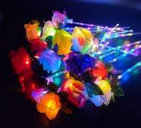 LED luz de buquê flores piscando brilhando varinha rosa vara casamento deocry dia dos namorados festa memorável