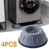 4Pcs Dryer Refrigerator Base Fixed Non-Slip Pad Home Universal Anti-Vibration Feet Pads For Washing Machine Plastic Bath Mats
