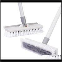 Escovas CleanHome Floor Scrub Brush 50 Ajustável Metal Inoxidável Longa Handle Scrubber com cerdas rígidas para limpeza de telha 201214 ye jrcpf