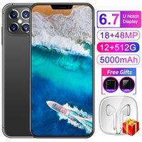 "Smartphone 6.7"" Cell phones Android Fingerprint Face Unlock Dual Camera 4G 5G Smart MobilePhone Global Version"