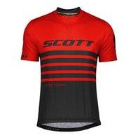 Scott Pro Team Atmungsaktiv Radfahren Kurzarm Jersey Herren Sommer MTB Bike Hemd Outdoor Sportswear Schnell trockene Straße Fahrrad Tops Rennkleidung Y21040977