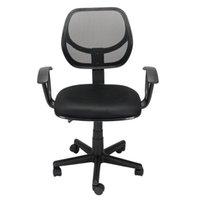 Стул компьютера Waco сетки заднего офиса, домашняя коммерческая мебель, подлокотники поворотного газового подъема регулируемый эргономичный для изучения черный