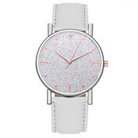 2021 Top Brand High Quality Rhinestones Womens Ladies Simple Watches Faux Leather Analog Quartz Wrist Watch Clock Saat Gift1