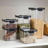 Storage Bottles & Jars Kitchen Organizers For Pantry Containers Fridge Organizer With Lid Plastic Container Spices Boxes