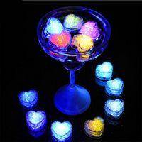 Décoration de la fête 12pcs LED glaçons glaçons boule rougeeuse lumière lumière lumineuse de mariage de mariage de mariage barre de Noël verre verre
