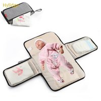 Diaper Bags Hylidge Portable Baby Bag Wipeable Foldable Waterproof Changing Pad Multi-function Mat With Pockets