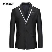 Men's Jackets Spring Winter Mens Brand Fleece Blends Jacket Male Overcoat Casual Solid Slim Collar Coats Long Cotton Trench Coat Streetwear#