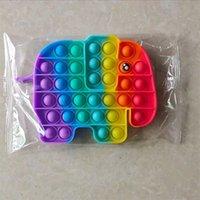 Push Bubble Board Keepsakes Tiktok Sensory Rainbow Cartoon Elephant Dito dito bolle puzzle Famiglia per bambini Desktop Giocattoli Desktop Stress Sollier 96 H1