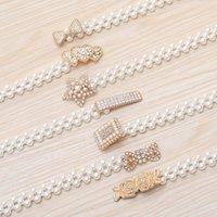 2021 New Pearl Waist Chain Ladies Decoration Dress Belt Womens Pearl Belt Fashionable Temperament Waistband Belt Womens