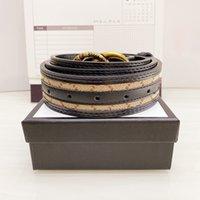 20 Kolor 2021 Mężczyzna Moda Pas Luksusowe Mężczyźni Projektanci Damskie Dżinsy Paski Snake Big Gold G Klamra Cintura Rozmiar 90-125cm Brak pudełka