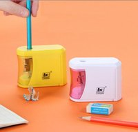 Quality 3 colors Automatic Electric Pencil Sharpener Safe Fast Prevent Accidental Opening Stationery School Supplies Students Artists Classrooms Office