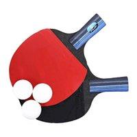 Table Tennis Raquette Double Caoutchouc Double Caoutchouc Débutant Training -Pong-Panneau (Poignée longue, Ran Raquets