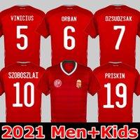 2021 Hongrie Jersey Scerey Szalai Uniforme Mens Priskin Dzsudzsak Szoboszlai Gazdag Ferenczi Bese Botka Home Homme + Chemise de football pour enfants