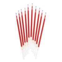 أقلام هلام W3JD 10PCS 0.38MM حبر حبر قلم الملء الأسود الأزرق القرطاسية الحمراء
