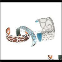 Bangle Bracelets Jewelrylegenstar Lily Bracelets&Bangles For Women Stainless Steel Georgettes Leather Diy Bijoux Manchette Femme Bracelet Pu