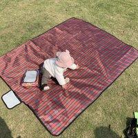 150 * 200cm 핸디 매트 토트 대형 피크닉 담요 가족 방수 캠핑 러그 대형 접이식 야외 여행 비치 패드