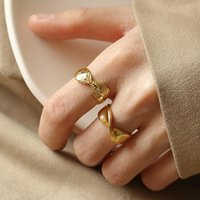 Cluster Rings AOMU 1PC 2021 INS Simple Geometric Twisted Leaf Shape Metal For Women Fashion Gold Color Open Jewlery Gifts