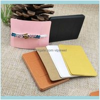 Joyería de la bandeja Joyas de embalaje5 * 7 cm Multi Color DIY Blank Glaw / Barrette Productos Papel de embalaje Papel Pantalla Tarjeta de pantalla 100pcs + 100oppbag dro
