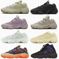 2021 Frauen Männer Kanye Vision Stein Welle Sport Schuhe Läufer Westknochen Dienstprogramm Wüste Ratte 500 Sneaker Weiß Blush Cinder Reflektierende Outdoor Herren Turnschuhe