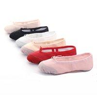 EU22-45 pano / cabeça cabeça ioga chinelos ginástica ginásio indoor exercício canvas ballet dança sapatos crianças crianças meninas mulher