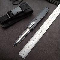 MT 이중 액션 자동 칼 하이킹 3CR13MOV 블레이드 스테인레스 스틸 핸들 전술 자기 방위 포켓 나이프
