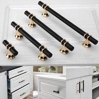 Handles & Pulls Aluminum Alloy Black Gold Door Handle Kitchen Cabinet Solid Drawer Furniture European Modern Hardware