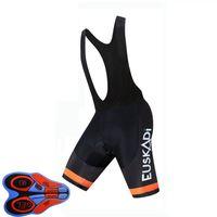 2021 Curcling Bib shorts Été Team Euskadi rapide Dry 9D Gel Pad Collants de vélo VTT Ropa Ciclismo Humidité Pantalon de vélo Y21033114
