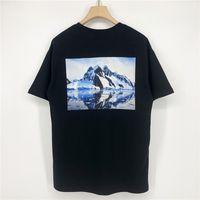 21SS Europa USA Primavera Estate Casual T Shirt Ice Mountain Montagna Pittura a olio Skateboard Tshirt Uomo Donna Manica corta Streetwear Tee