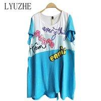 Women's T-Shirt LYUZHE Green Blue Women Irregular Fork T Shirt 2021 Patchwork Color Female Letter Sequin ZQY001D