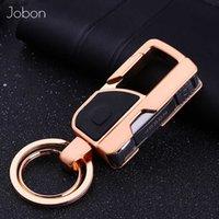 Jobon Men Key Chain Knife Tool Creative Folding Clipper Metal Car Keychains Led Lighting Key Rings Holder Best Gift High Quality H0915