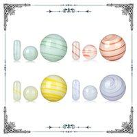 Colore misto di colore luminoso TERP perla quarzo TERP TERP Slurpers Banger Nail Ball Accessori per fumo Cappuccio di carboidrati per il quarzo Banger Bangs Bongs Burner di olio