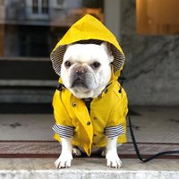 작은 개에 대 한 개 옷 노란색 방수 개 옷 애완 동물 비옷 재킷 강아지 비옷 Yorkie 치와와 의류 애완 동물 produ