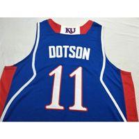 Personalizado 009 Juventude Mulheres Kansas Jayhawks Devon Doston # 11 Dedric Lawson # 1 LightFoot Jersey Tamanho S-6XL ou Personalizado Qualquer nome ou Número Jersey