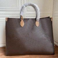 Повседневный большой размер классической сумки стиль кожаный холст буква коричневый черный цветок женщина женские магазины Tote