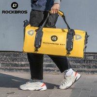 ROCKBROS 60L Women Men Gym Bag Waterproof Portable Sport Bags Large Capacity Reflective Fitness Yoga Pouch Shoulder Travel Pannier