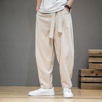Men's Pants Spring Cotton Linen Men Elastic Waist Casual Harem Pant Loose Sweatpants Traditional Chinese Trousers Pantalons